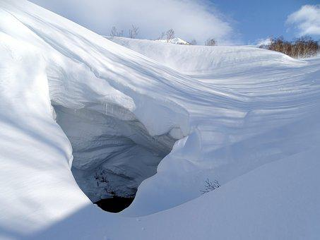 Mountains, Small River, Snow Cave, The Grotto, Yama