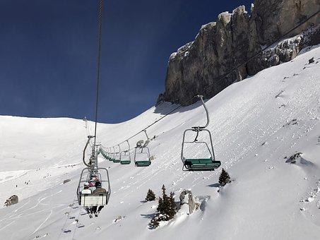Chair Lift, Mountain, Snow, Winter, Ski, Sport