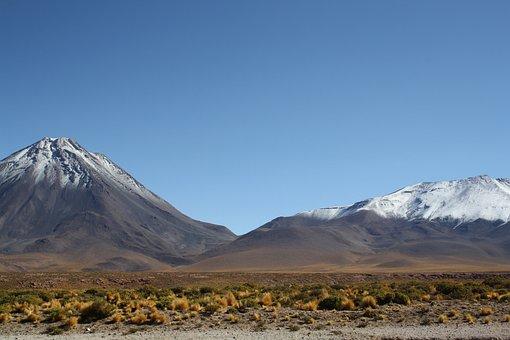 Mountain, Volcano, Snow, Landscape