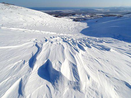 Mountains, Winter, Snow, Height, Wind
