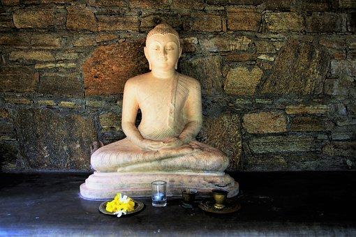 Sri Lanka, One, Sculpture, Stone, Lake Dusia, Buddha