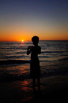 Sunset, Dusk, Dawn, Beach, Sun, Sea, Water, Outdoors