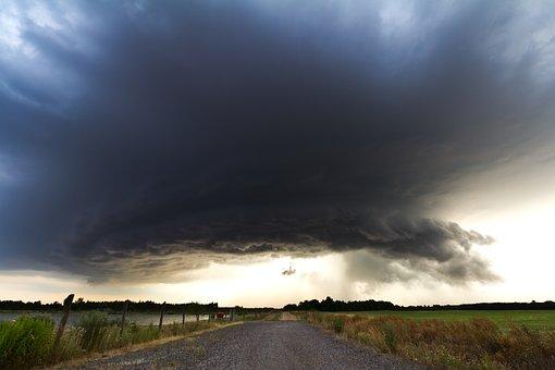 Thunderstorm, Storm, Super Cell, Road, Cumulonimbus