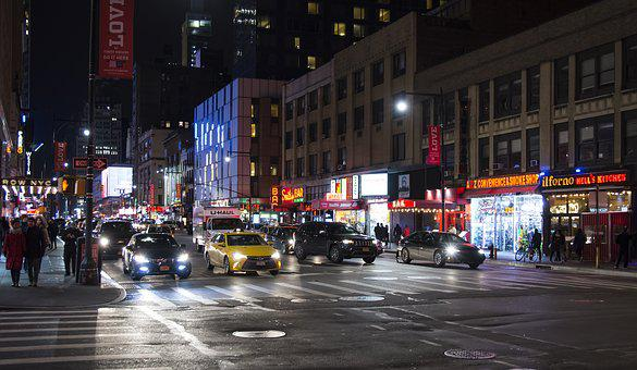 Traffic, Street, Road, City, Car, New York, Manhattan
