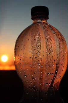 Bottle, Transparency, Sunset, Empty
