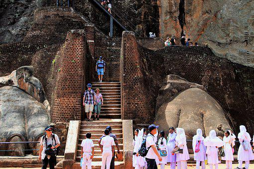 Sigiriya, Stairs, Rock, Sri Lanka, Tour, Travel