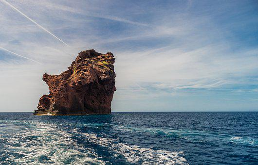 Waters, Sea, Travel, Sky, Nature, Corsica, Sardinia