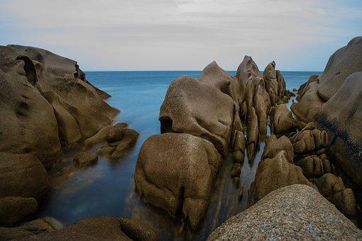 Waters, Travel, Sea, Coast, Rock, Corsica, Sardinia