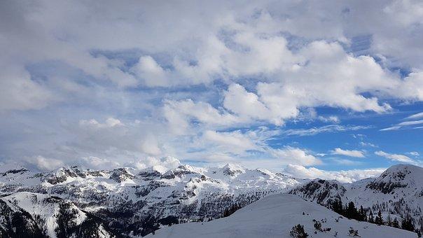 Snow, Winter, Panorama, Mountains, Nature