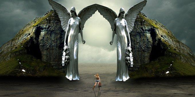 Fantasy, Gates, Heaven, Travel, Angels