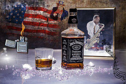 Drink, Bar, Bottle, Glass, Jack Daniels, Whiskey, Jack