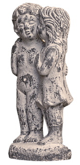 Girl, Boy, Brothers And Sisters, Pair, Figure, Ceramic
