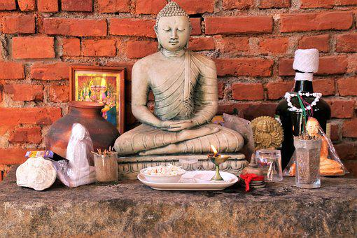 Buddha, Sit, One, Spirituality, Religion, Brick, Male