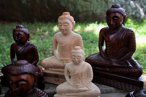 Buddha, Wooden, Religion, Travel, Portrait