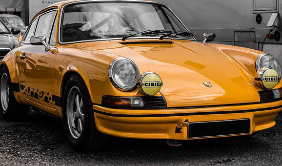 Porsche Carrera Rs, Porsche, Carrera, Rs, Yellow, Car