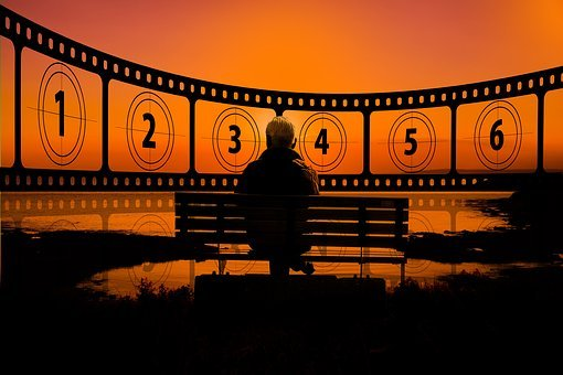Sunset, Cinema, Demonstration, Film, Filmstrip, Black
