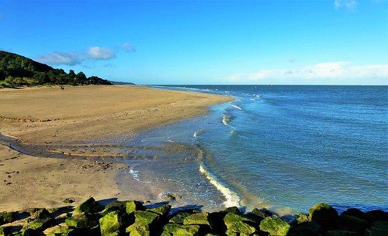 Nature, France, Normandy, Beach Sand, Ocean, Side, Sea
