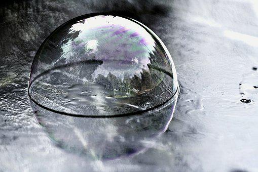Reflection, Glass, Bubble, Nature, Frozen, Cold, About
