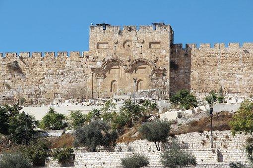 Tourism, Wall, Golden Gate, Jerusalem, Old Town