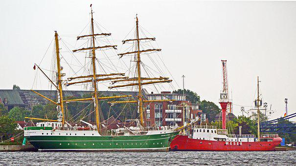 Tall Ship, Lightship, Three Masted