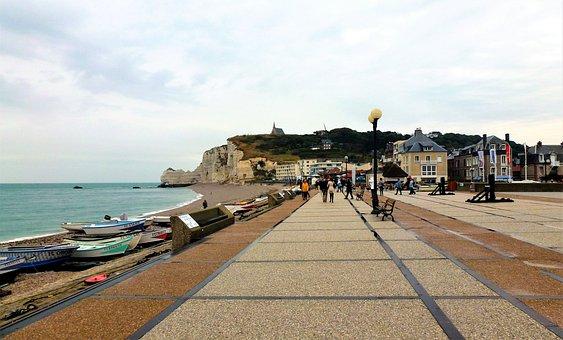 Nature, France, Normandy, Etretat, Cliff, Ocean