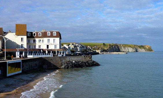 France, Normandy, Atlantic, Sea, Travel, No Person