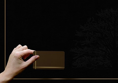 Business Card, Hand, Present, Give, Note, Presentation