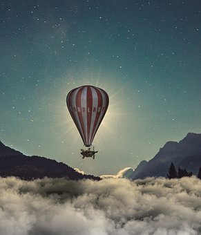 Adventure, Exploration, Sky, Parachute