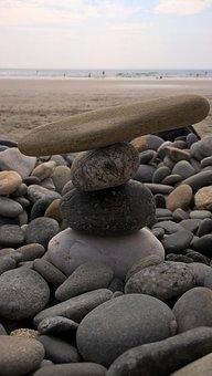 Beach, Sea, Side, Roche, Pierre, Roller
