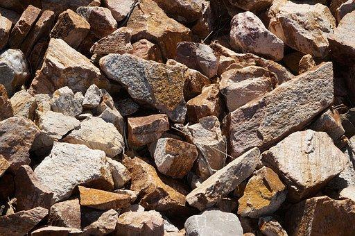 Batch, Pile, Fabric, Rough, Stone, Rock, Texture, Gray
