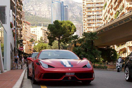 Street, Road, Pavement, Car, City, Ferrari, Monaco