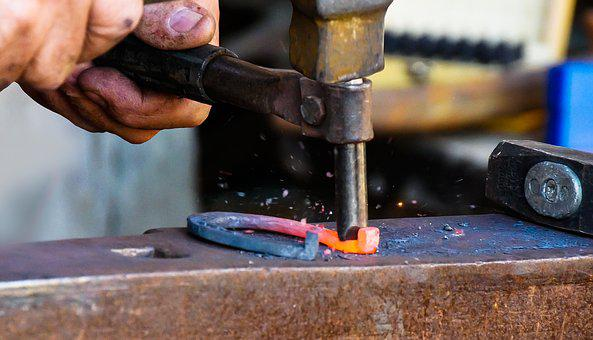 Industry, Tool, Blacksmith, Anvil, Horseshoe, Handmade