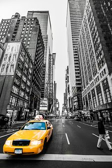 Street, City, Road, Automobile, Travel, New York, Taxi