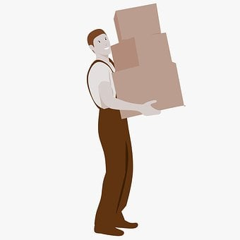 Moving Boxes, Movers, Moving, Carry, Lift, Walk
