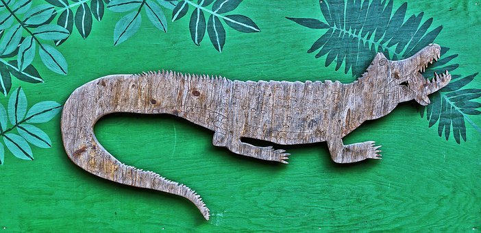 Lizard, Reptile, Holzfigur, Figure, Wood, Animal