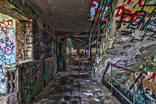 Graffiti, Abandoned, Architecture, Old, Ruin, Lapsed