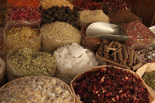 Spices, Dry, Market, Oregano, Spisskum, Basil, Salt