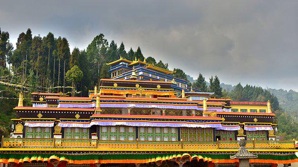Travel, Outdoors, Temple, Sky, Monastery, Buddhist