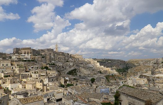 Building, Journey, City, Town, Sash, Matera