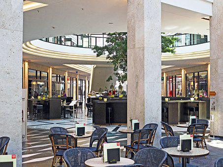 Mall, Shopping Centre, Center, Lobby, Gastronomy