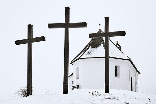 Cross, Church, Religion, Resurrection, Deity
