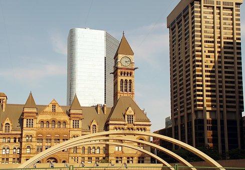 Canada, Toronto, Architecture, Clock, Monument