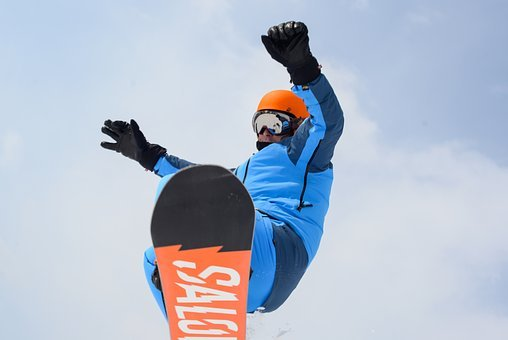 Man, Competition, Jump, Snowboard, Sport, People, Male