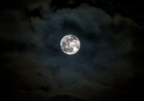 Moon, Astronomy, Lunar, Full Moon, Luna, Darkness, Sky