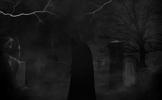 Darkness, Black Graphic White, Horror, Creepy, Scary