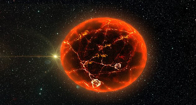 Fire Planet, Astronomy, Planet, Outer Space