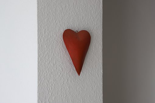 Love, Heart, Red, Deco, Decoration, Wall, Welcome