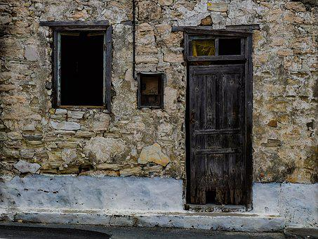 Door, Window, Aged, Weathered, Architecture, House