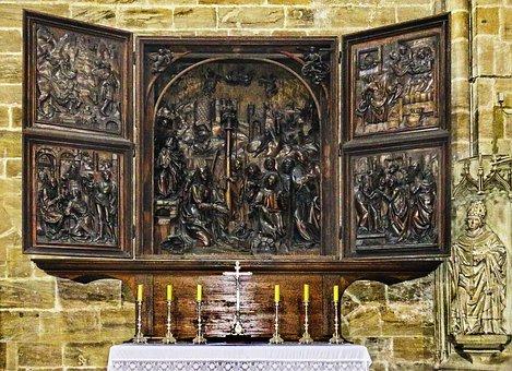 Veit-stoß-altar, Marie Altar, Linden Wood Carvings