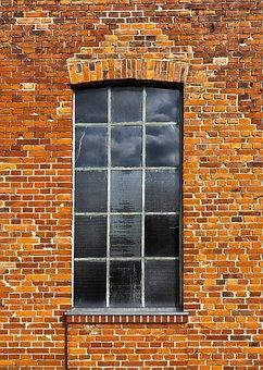 Brick, Wall, Window, Metal Window, Brick Wall, Old
